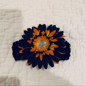 NWOT Black Baby Headband Halloween Flower Fall